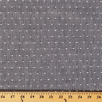 Chambray Tufted Dot Grey Fabric by the Yard (9632R-11M)