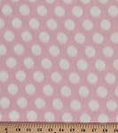 Heather Bailey Momentum Threaded Polka Dots Circles Circle Pink White Rayon Fabric by the Yard (RAHB003-Pink)