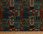 Double-sided Pre-quilted Cotton Aztec Southwestern Southwest Reversible Fabric By the Yard (21227741)