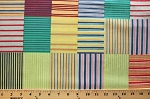 Corduroy Patch Patchwork Stripes Striped Blocks Cotton Fabric Print by the Yard (7442R-8L-patchwork)