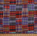Stitched Patchwork Nantucket Patchwork Tartan Plaid Yarn-dyed Yarn Dyed Fabric by the Yard (SRK-15383-207-sunrise)