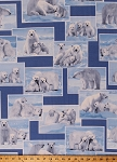 Flannel Polar Bears On the Wild Side Arctic Winter Cotton Flannel By the Yard (5765F-55)