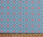 Flannel Geometric Onesies and Things Squares Baby Pastel Blue Pink Flannel Fabric By the Yard (AHDF-14135-198PASTEL)