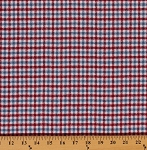 Mammoth Flannel Red Blue Plaid Americana Check Woven Double Sided Flannel By the Yard (SRKF-148885-202AMERICANA)