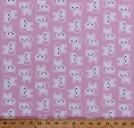 Flannel Kittens Cats Kitty Pets Animals Felines Urban Zoologie Kids Pink Flannel Fabric By the Yard (AAKF-15724-123-BabyPink)