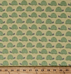 Flannel Turtles Baby Reptile Animals Green Yellow Kids The Wild Bunch Cotton Flannel Fabric By the Yard (AMFF-15386-268-NATURE)