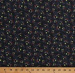 Cotton Fireflies Firefly Lightning Bugs Insects Frolicking Field Gray Cotton Fabric Print by the Yard (120-15612)