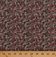 Cotton Arrows Allover Blue Red Green Arrows on Tan Southwest Southwestern High Adventure 2 Cotton Fabric Print by the Yard (C7252-TAN)