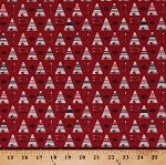 Cotton Teepees Tipis Tents Arrows Southwestern Tribal Southwest Native American High Adventure 2 Red Cotton Fabric Print by the Yard (C7251-RED)