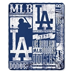 Los Angeles Dodgers MLB Baseball Sports Team 50x60 Fleece Fabric Throw