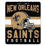 New Orleans Saints NFL Football Sports Team 50x60 Fleece Fabric Throw