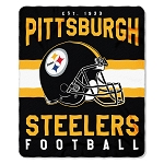 Pittsburgh Steelers NFL Football Sports Team 50x60 Fleece Fabric Throw