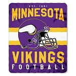 Minnesota Vikings NFL Football Sports Team 50x60 Fleece Fabric Throw