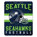 Seattle Seahawks NFL Football Sports Team 50x60 Fleece Fabric Throw