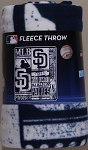 San Diego Padres MLB Baseball Sports Team 50x60 Fleece Fabric Throw