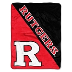 Rutgers University Scarlet Knights College 46x60 Micro Raschel Fabric Throw