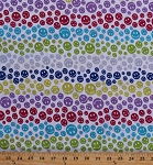 Cotton Blend Jersey Rainbow Smiley Face Smiles Emoji Stretch Fabric By the Yard (3442F-2A)