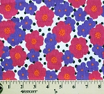 Pink Purple Flowers Flower Floral Lightweight Jersey T-shirt Knit Fabric Print By Yard (6504F-1L)