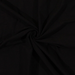 Cotton Lycra Knit Solid Black Cotton Lycra Blend Fabric by the Yard (8798F-6M)