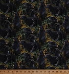 Cotton Black Bears Cubs Animals Wildlife Nature Scenic Forest Cotton Fabric Print by the Yard (59987-A620715)