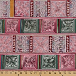 Patchwork Stripe Design Sampler Stitch Lightweight Cotton Blend Fabric by the Yard (R-2N)
