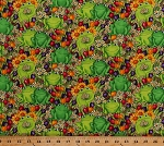 Cotton Green Frogs Happy Frog Amphibians Animals Flowers Daisy Daisies Tulips Butterflies Garden Gardening Floral Cotton Fabric Print by the Yard (DEBI-C6033GREEN)