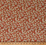 Cotton Strawberry Tiny Strawberries and Flowers Floral Fruits Food Gardening Kitchen Spring Summer Yellow Cotton Fabric Print by the Yard (117554-RH-2YELLOW)
