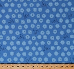 Cotton Corduroy Buttons Teddy Bear Kids Children's Book Character Don Freeman Blue Organic Cotton Fabric Print by the Yard (157402)