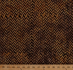 Cotton African Print Herringbone Zigzags Zig Zag Chevron Lines Tonga Nairobi Black and Gold Africa Cotton Batik Fabric Print by the Yard (242114-B2271-GOLD)