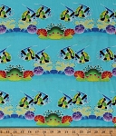 Cotton Tropical Fish Bannerfish Moorish Idol Fishes Swimming Underwater Ocean Sea Marine Animals Coral Reef Fish Tank Aquatic Cotton Fabric Print by the Yard (DC5446-LAGO-D)