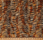 Cotton Tiger Skin Print Stripes Animal Print It's A Jungle Out There Tigers Animals Cotton Fabric Print by the Yard (5002)
