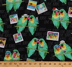 Cotton Love Birds Parrots Tropical Birds Photographs Photography Summer Hawaiian Tropic Rainforest II Cotton Fabric Print by the Yard (06599-12)