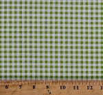 Cotton Lime Green Gingham Checks Checkers Checkered Picnic Pals Organic Cotton Fabric Print by the Yard (Y1000-19darklime)