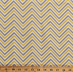 Cotton Chevron Stripes Gray Yellow White Chevron Striped Zig Zags Zigzag Cotton Fabric Print by the Yard (CP63713)