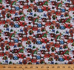 Cotton Snowman Snowmen Winter Wishes Kids Christmas Holiday Cotton Fabric Print by the Yard (50257-X)