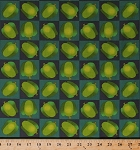 Cotton Green Peppers Vegetables Veggies Gardening Farming Farmers Produce Food Kitchen Lush Harvest Checkers Squares Cotton Fabric Print by the Yard (4652T-9A-peppers)