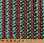 Cotton Rhythm Stripe Olive Green Blue Pink Stripes Amy Butler Bright Heart Striped Cotton Fabric Print by the Yard (PWAB151)
