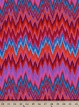 Cotton Kaffe Fassett Flame Stripe Zig Zag Red Orange Blue Pink Cotton Fabric Print by the Yard (PWGP134REDXX)