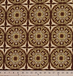 Cotton Tina Givens Fortiny-Soiree Tile Motif Cotton Fabric Print by the Yard PWTG130-HAZELNUT