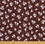 Cotton Jennifer Paganelli Girls World Vibe Flower Floral Cotton Fabric Print by the Yard PWJP059-BROWN
