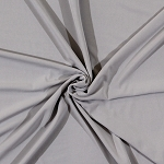 Premium Brand Matte' Jersey Solid Silver Gray Grey Polyester Blend Fabric by the Yard (2271F-3N)