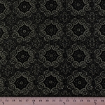 Slinky Glitter Flocked Medallion Pattern with Glitter 4-Way Stretch Nylon/Spandex Light Olive Green Fabric by the Yard (F-11J)