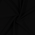 Premium 4-Way Stretch Double Knit Fabric by the Yard - Black (9145R-8M)