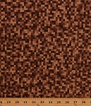 Cotton Bitmap Pixels Digital Building Blocks Squares Gamer Video Games Brown Cotton Fabric Print by the Yard (CX7029-BROW-D)