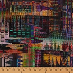 Cotton Rainbow Crystalia Coordinate Digital Pixelated Pixels Hoffman Challenge Digital Cotton Fabric Print by the Yard (N4243)