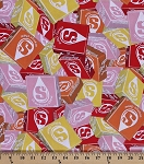 Cotton Packed Starburst Candy Cotton Fabric Print by the Yard (15264)