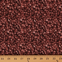 Cotton In The Mix Chocolate Chips Baking Food Candy Cotton Fabric Print by the Yard (37472)	D473.07