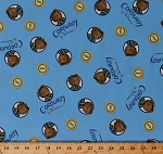 Cotton Corduroy Teddy Bears Buttons Don Freeman Children's Book Character Blue Organic Cotton Fabric Print by the Yard (157202)
