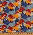 Cotton Have You Seen My Dinosaur Kids Cotton Fabric Print by the Yard Q1828-82410-453