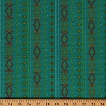 Cotton Rusty and Friends Knitted-Look Sweater Teal Cotton Fabric Print by Yard (06015)